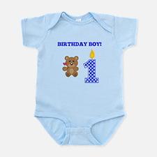 Birthday Boy Teddy Bear Body Suit