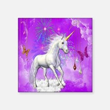 "Cute Unicorn Square Sticker 3"" x 3"""