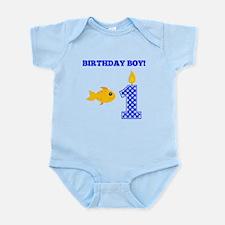 Birthday Boy Goldfish Body Suit