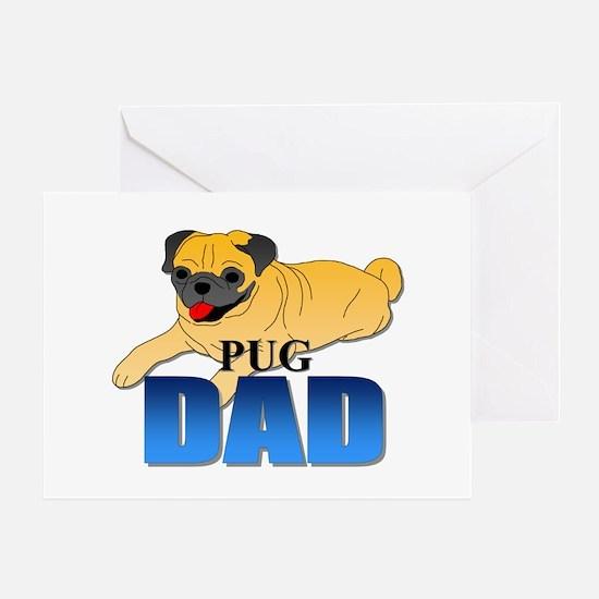 Fawn Pug Dad Greeting Card