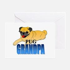 Fawn Pug Grandpa Greeting Card