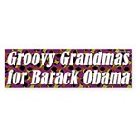Groovy Grandmas for Barack Obama sticker