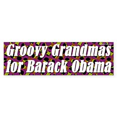 Groovy Grandmas for Barack Obama sticker
