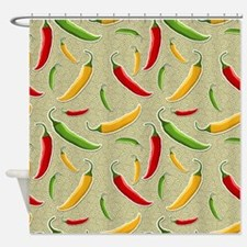 Raining Peppers Shower Curtain