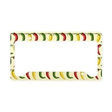 String of Chilies License Plate Holder