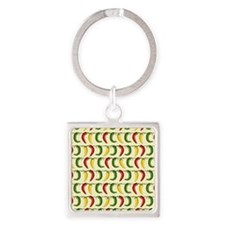 String of Chilies Square Keychain