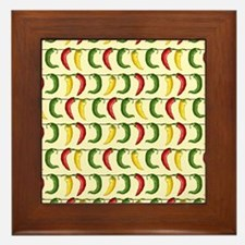 String of Chilies Framed Tile