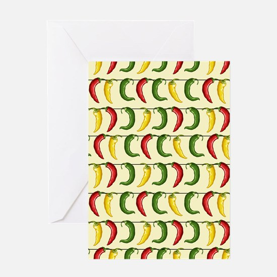 String of Chilies Greeting Card