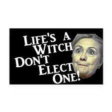 Life's A Witch Hillary Rectangle Car Magnet