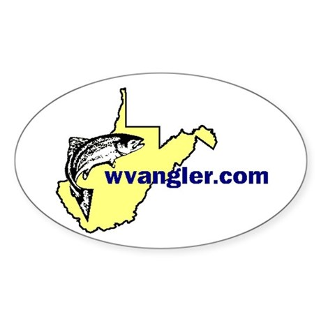 WVAngler Fish Oval Sticker