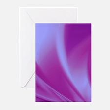 Veils of Purple Fractal Greeting Cards