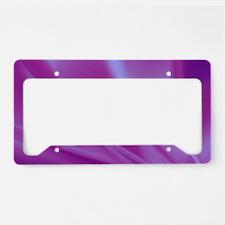 Veils of Purple Fractal License Plate Holder