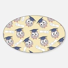 Owl Graduates Sticker (Oval)