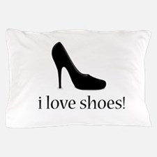 i love black high heel shoes Pillow Case