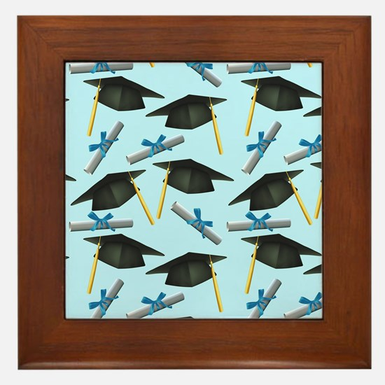 Caps and Diplomas Framed Tile
