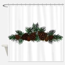NEW! Pine Cluster Shower Curtain