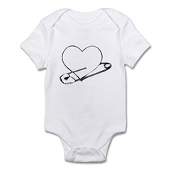 Safety Pin Heart Infant Bodysuit
