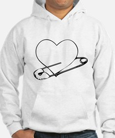 Safety Pin Heart Hoodie