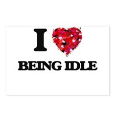 I Love Being Idle Postcards (Package of 8)