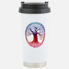 Celtic Tree (sunset) Travel Mug