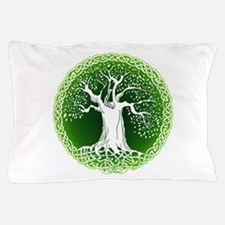 Green2 Celtic Tree Pillow Case