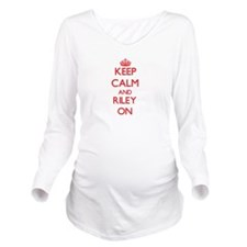 Keep Calm and Riley Long Sleeve Maternity T-Shirt
