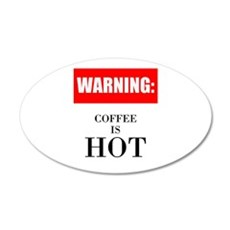 Coffee Is Hot Wall Decal
