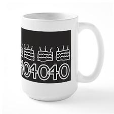 Personalized Black 40th Birthday Mugs