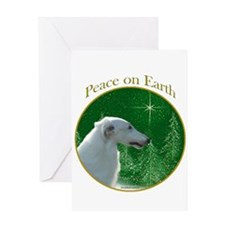 Borzoi Peace Greeting Card