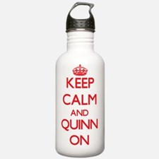 Keep Calm and Quinn ON Water Bottle