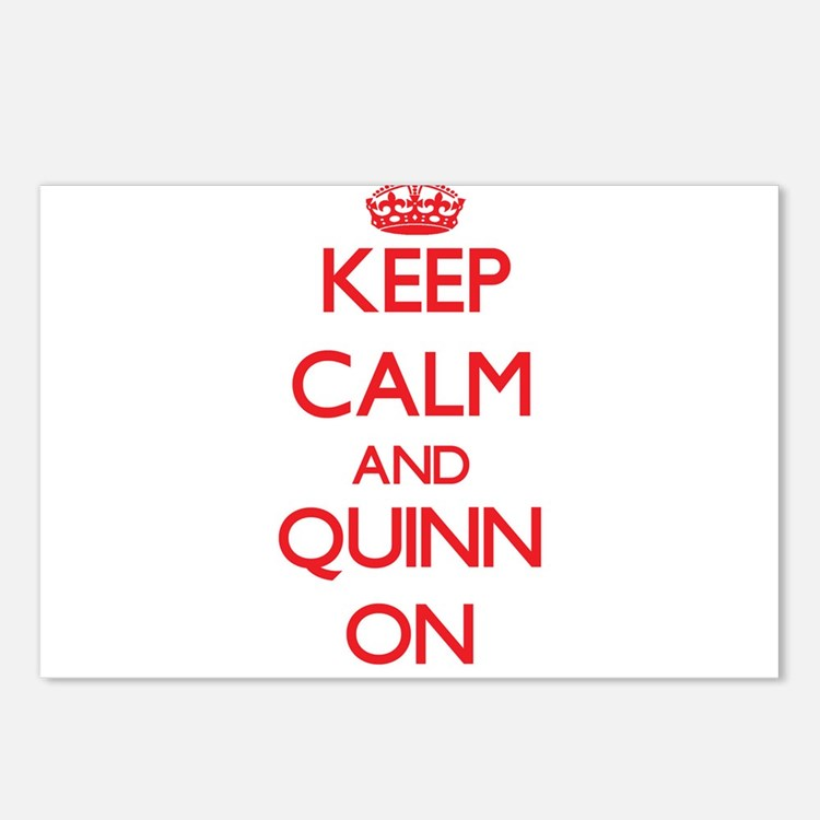 Keep Calm and Quinn ON Postcards (Package of 8)