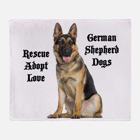 Love GSDs Throw Blanket