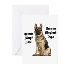 Love GSDs Greeting Cards