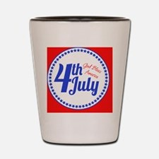 4th July Shot Glass