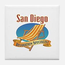 San Diego Relax Tile Coaster