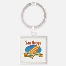 San Diego Relax Square Keychain