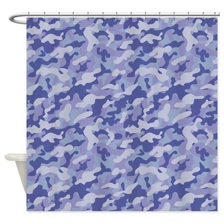 Inverted Camouflage Shower Curtain By Patternshoppe2