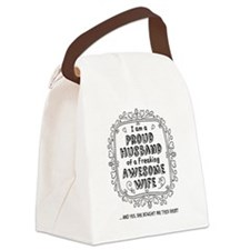 Unique Awesome husband Canvas Lunch Bag