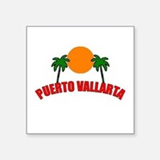 "Cute Puerto vallarta Square Sticker 3"" x 3"""