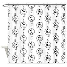 Treble Clef Pattern Shower Curtain