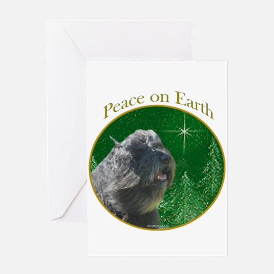 Bouvier Peace Greeting Card