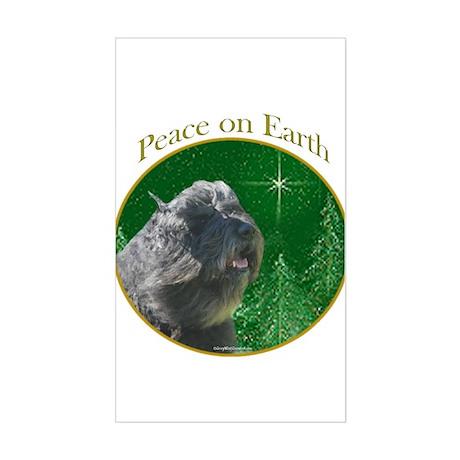 Bouvier Peace Rectangle Sticker