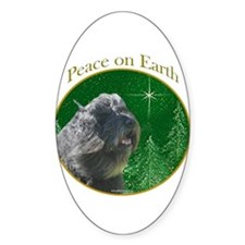 Bouvier Peace Oval Decal