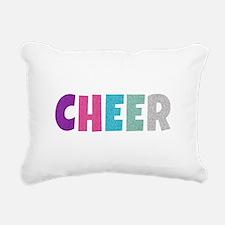 Cheer Rainbow Glitter Rectangular Canvas Pillow