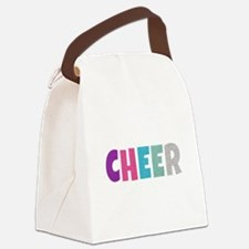 Cheer Rainbow Glitter Canvas Lunch Bag