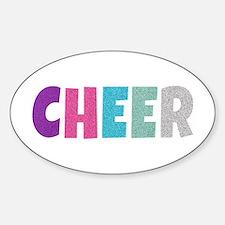 Cheer Rainbow Glitter Decal