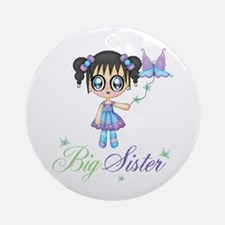 Big Sister Fairy Butterfly Ornament (Round)