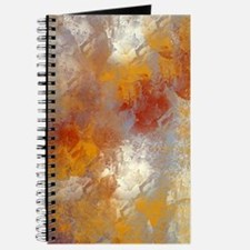 Abstract in Butterscotch, Red, and Gray Journal