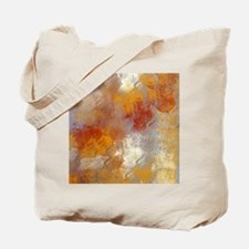 Abstract in Butterscotch, Red, and Gray Tote Bag