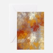 Abstract in Butterscotch, Red, and G Greeting Card